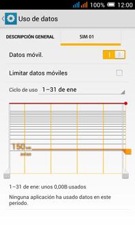 Alcatel Pop C9 - Internet - Ver uso de datos - Paso 6