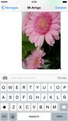 Apple iPhone 6 iOS 8 - MMS - Escribir y enviar un mensaje multimedia - Paso 14