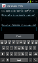 Samsung S7560 Galaxy Trend - E-mail - Configurar correo electrónico - Paso 18