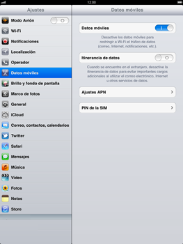 Apple iPad 2 - Internet - Activar o desactivar la conexión de datos - Paso 3