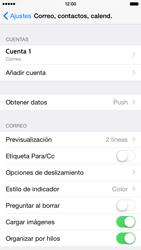 Apple iPhone 6 iOS 8 - E-mail - Configurar correo electrónico - Paso 16