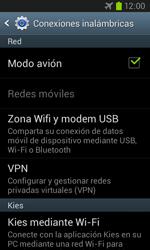 Samsung I8260 Galaxy Core - Red - Activar o desactivar el modo avión - Paso 7