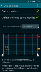 Samsung G850F Galaxy Alpha - Internet - Ver uso de datos - Paso 10