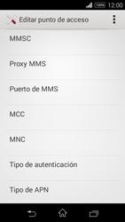 Sony D2203 Xperia E3 - MMS - Configurar el equipo para mensajes multimedia - Paso 11