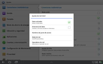 Samsung P7500 Galaxy Tab 10-1 - Internet - Activar o desactivar la conexión de datos - Paso 5