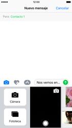Apple iPhone 6s iOS 10 - MMS - Escribir y enviar un mensaje multimedia - Paso 11