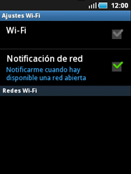 Samsung S5570 Galaxy Mini - WiFi - Conectarse a una red WiFi - Paso 6
