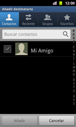 Samsung I8160 Galaxy Ace II - MMS - Escribir y enviar un mensaje multimedia - Paso 5