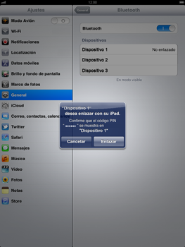 Apple iPad 2 - Connection - Conectar dispositivos a través de Bluetooth - Paso 7