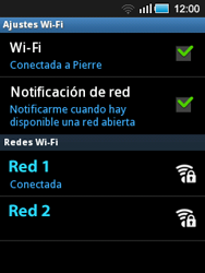 Samsung S5570 Galaxy Mini - WiFi - Conectarse a una red WiFi - Paso 9