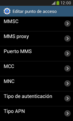 Samsung S7580 Galaxy Trend Plus - MMS - Configurar el equipo para mensajes multimedia - Paso 12