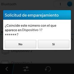 BlackBerry Q5 - Connection - Conectar dispositivos a través de Bluetooth - Paso 8