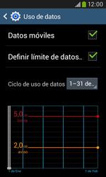 Samsung S7580 Galaxy Trend Plus - Internet - Ver uso de datos - Paso 10