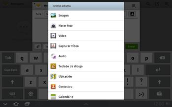 Samsung P7500 Galaxy Tab 10-1 - MMS - Escribir y enviar un mensaje multimedia - Paso 11