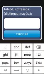 Nokia Asha 311 - WiFi - Conectarse a una red WiFi - Paso 8