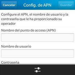 BlackBerry Q5 - Internet - Configurar Internet - Paso 8