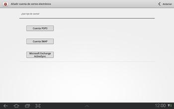 Samsung P7500 Galaxy Tab 10-1 - E-mail - Configurar correo electrónico - Paso 5
