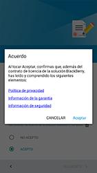 BlackBerry DTEK 50 - Primeros pasos - Activar el equipo - Paso 17