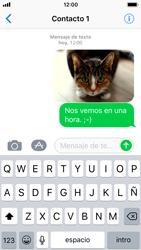 Apple iPhone SE - iOS 11 - MMS - Escribir y enviar un mensaje multimedia - Paso 15