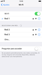 Apple iPhone 6 iOS 11 - WiFi - Conectarse a una red WiFi - Paso 7