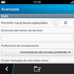 BlackBerry Q5 - MMS - Configurar el equipo para mensajes de texto - Paso 10