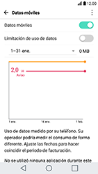 LG K10 (2017) - Internet - Ver uso de datos - Paso 4