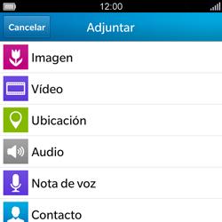 BlackBerry Q5 - MMS - Escribir y enviar un mensaje multimedia - Paso 10