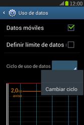 Samsung S6310 Galaxy Young - Internet - Ver uso de datos - Paso 6