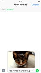 Apple iPhone 6s iOS 10 - MMS - Escribir y enviar un mensaje multimedia - Paso 15