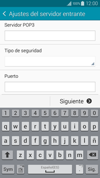 Samsung N910F Galaxy Note 4 - E-mail - Configurar correo electrónico - Paso 9