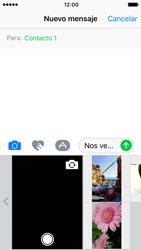 Apple iPhone 5s iOS 10 - MMS - Escribir y enviar un mensaje multimedia - Paso 10