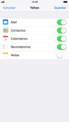 Apple iPhone 6s iOS 11 - E-mail - Configurar Yahoo! - Paso 8