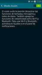 Samsung G850F Galaxy Alpha - Red - Activar o desactivar el modo avión - Paso 6