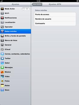 Apple iPad 2 - Internet - Configurar Internet - Paso 5