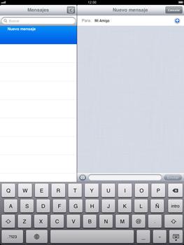 Apple iPad 2 - MMS - Escribir y enviar un mensaje multimedia - Paso 7