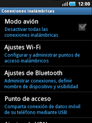 Samsung S5570 Galaxy Mini - WiFi - Conectarse a una red WiFi - Paso 5