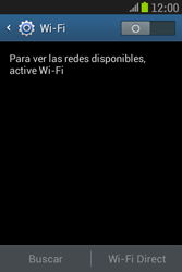 Samsung S6310 Galaxy Young - WiFi - Conectarse a una red WiFi - Paso 5