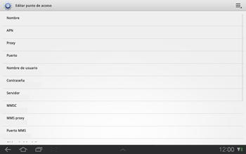 Samsung P7500 Galaxy Tab 10-1 - Internet - Configurar Internet - Paso 8