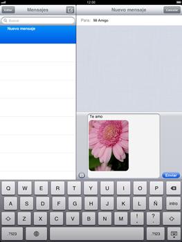 Apple iPad 2 - MMS - Escribir y enviar un mensaje multimedia - Paso 12